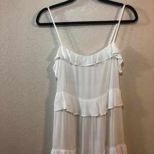 & Other Stories white tiered maxi dress, size 6